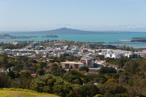 Mt Eden looking out to Rangitoto
