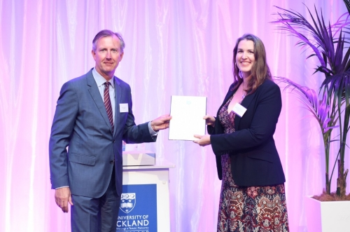 Dr Julie MacArthur receives her Early Career Excellence Award